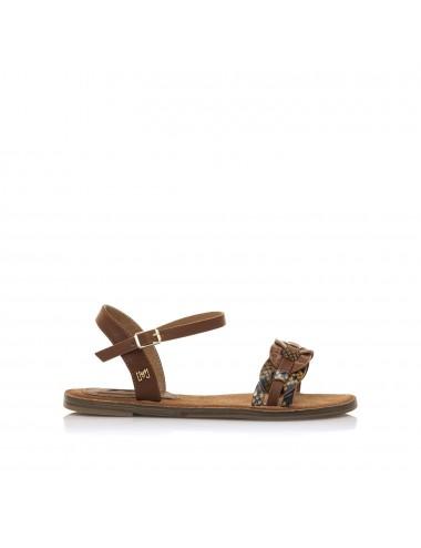 Sandalo donna marrone