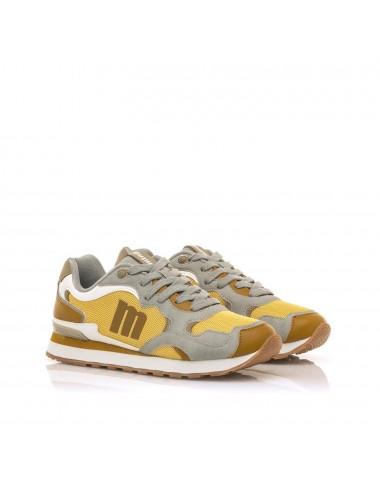 Sneakers donna grigio|senape
